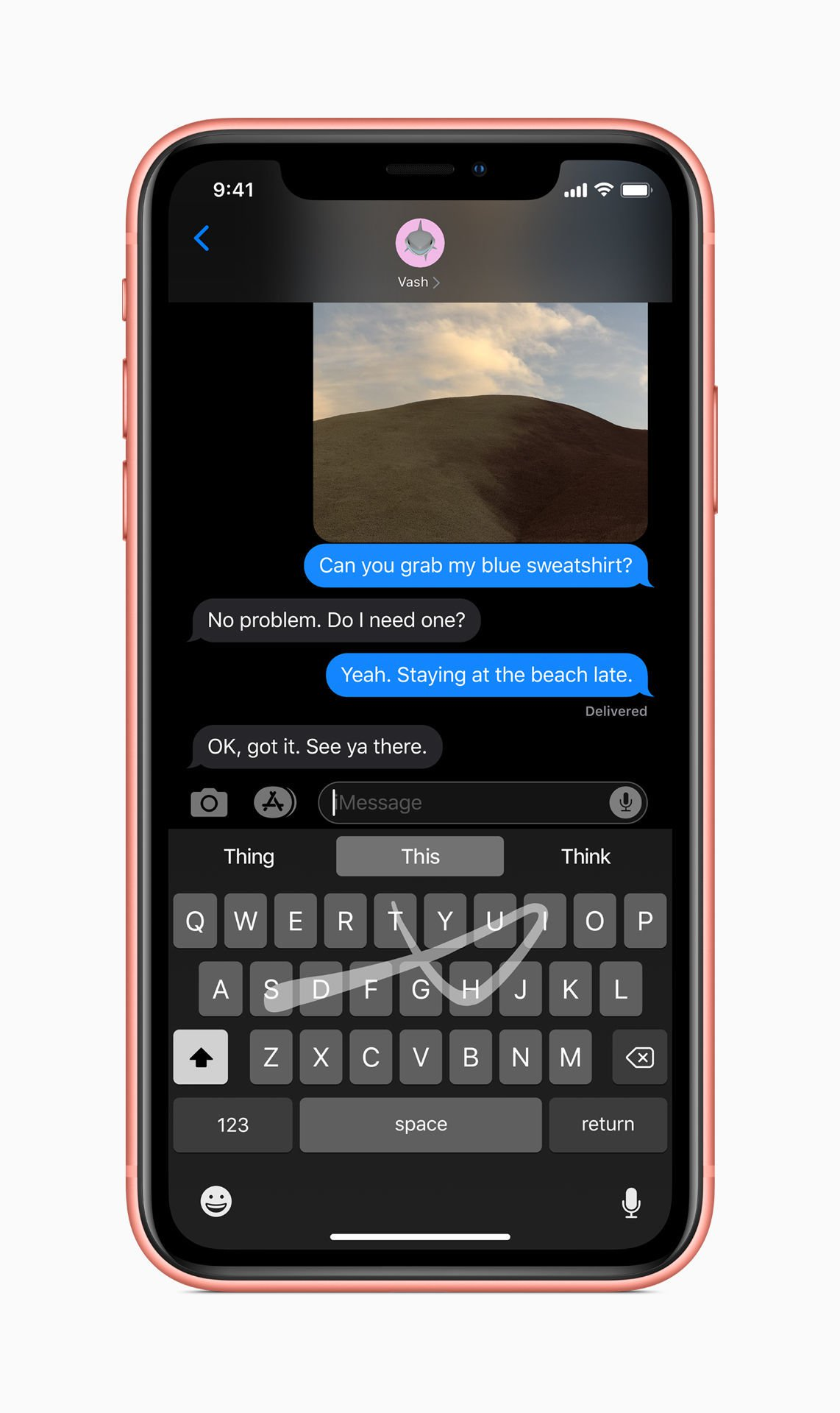 Revisión de iOS 13: tecleo deslizable