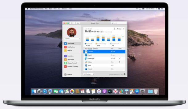 Screen Time en Mac
