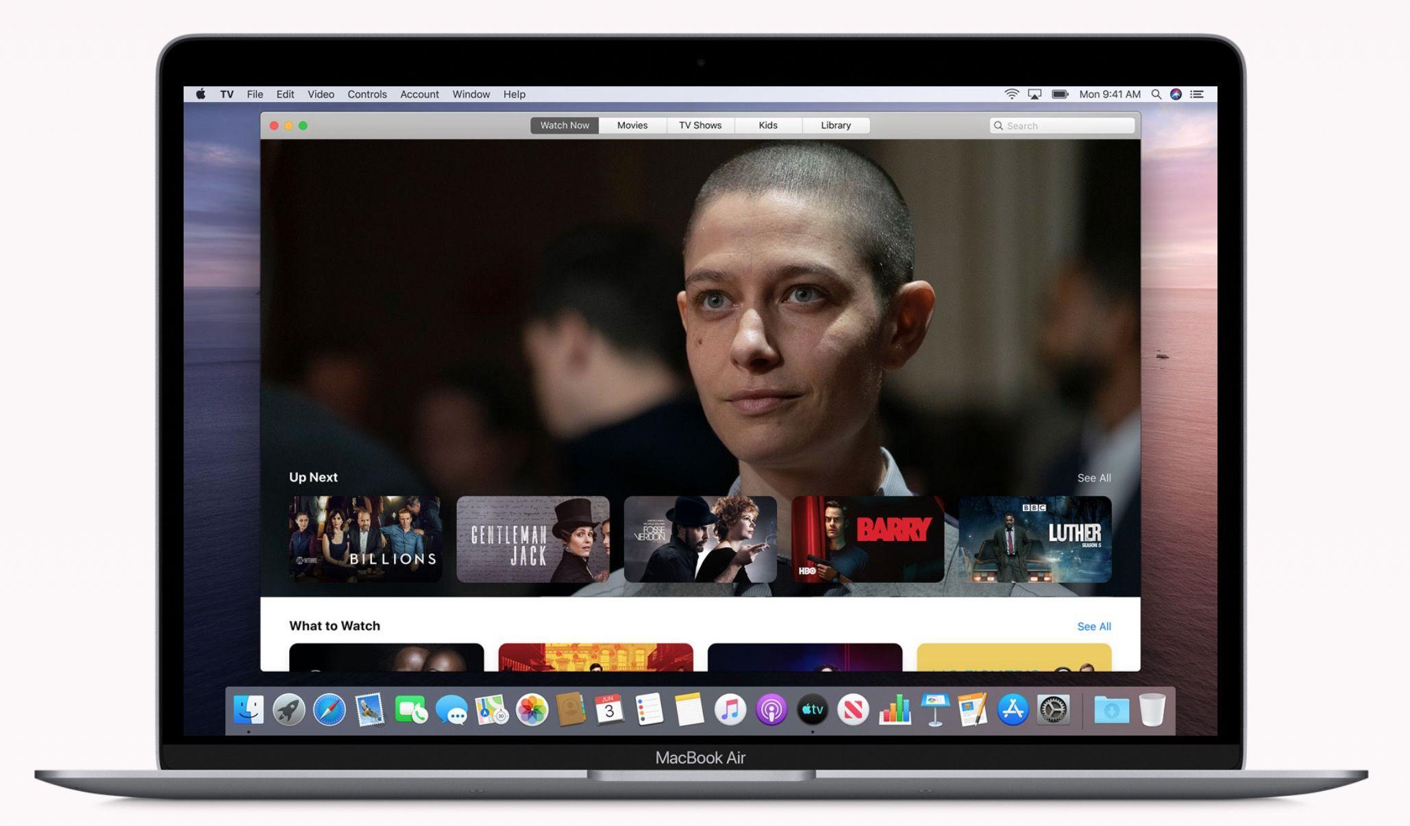 Nueva aplicación de Mac TV
