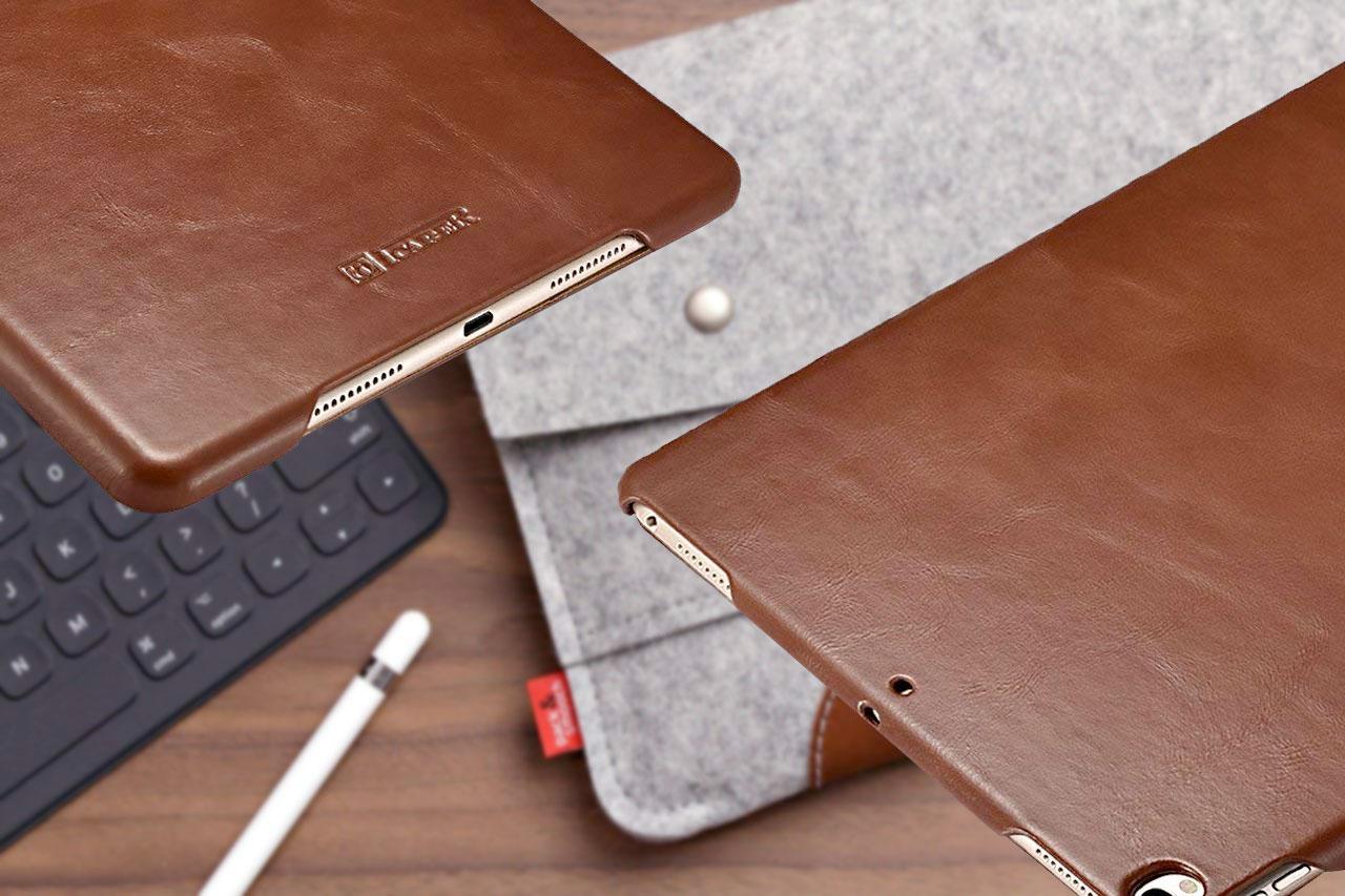 Las mejores fundas de cuero genuino para iPad Pro de 10.5 pulgadas [2019 Edition]: Material de primera calidad embellecido por un diseño lujoso
