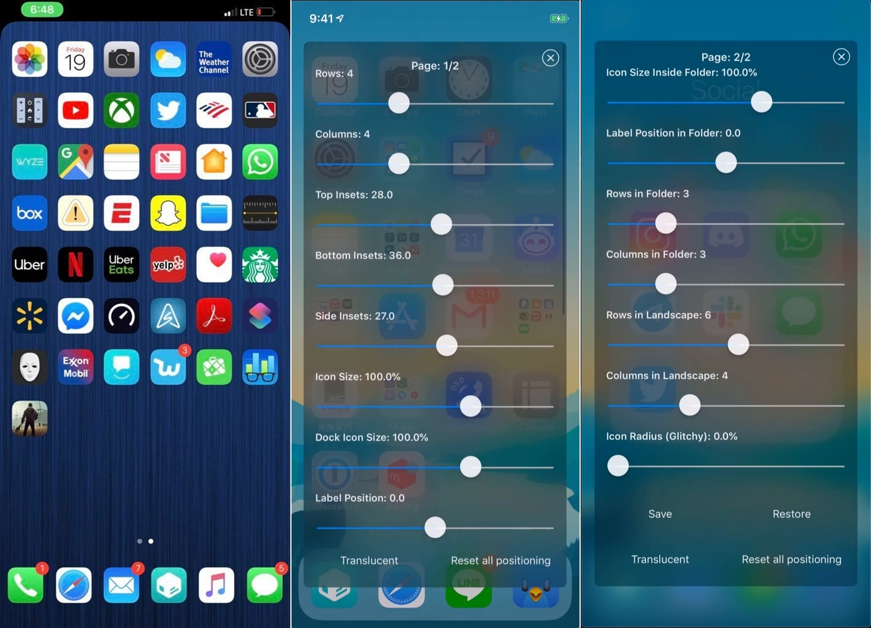 Iconator2: n avulla voit hallita iPhonen aloitusnäytön asettelua