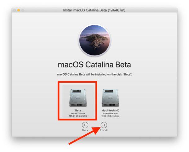 Elija el volumen APFS adecuado para instalar MacOS Catalina en