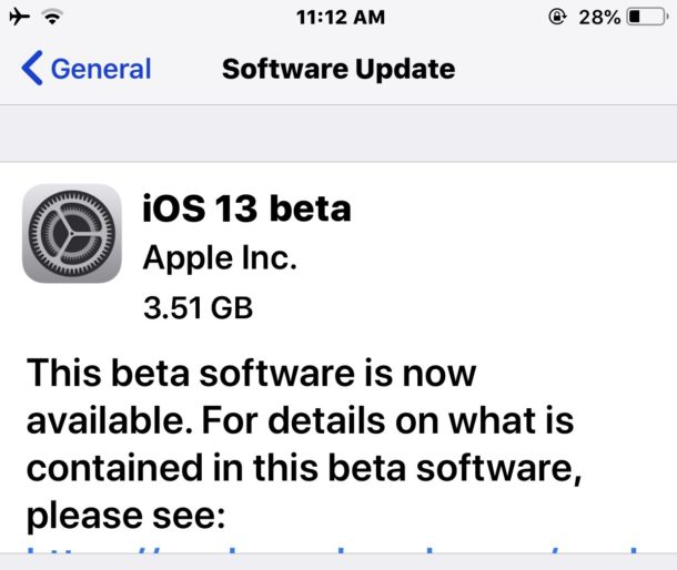 Descarga de iOS 13 beta