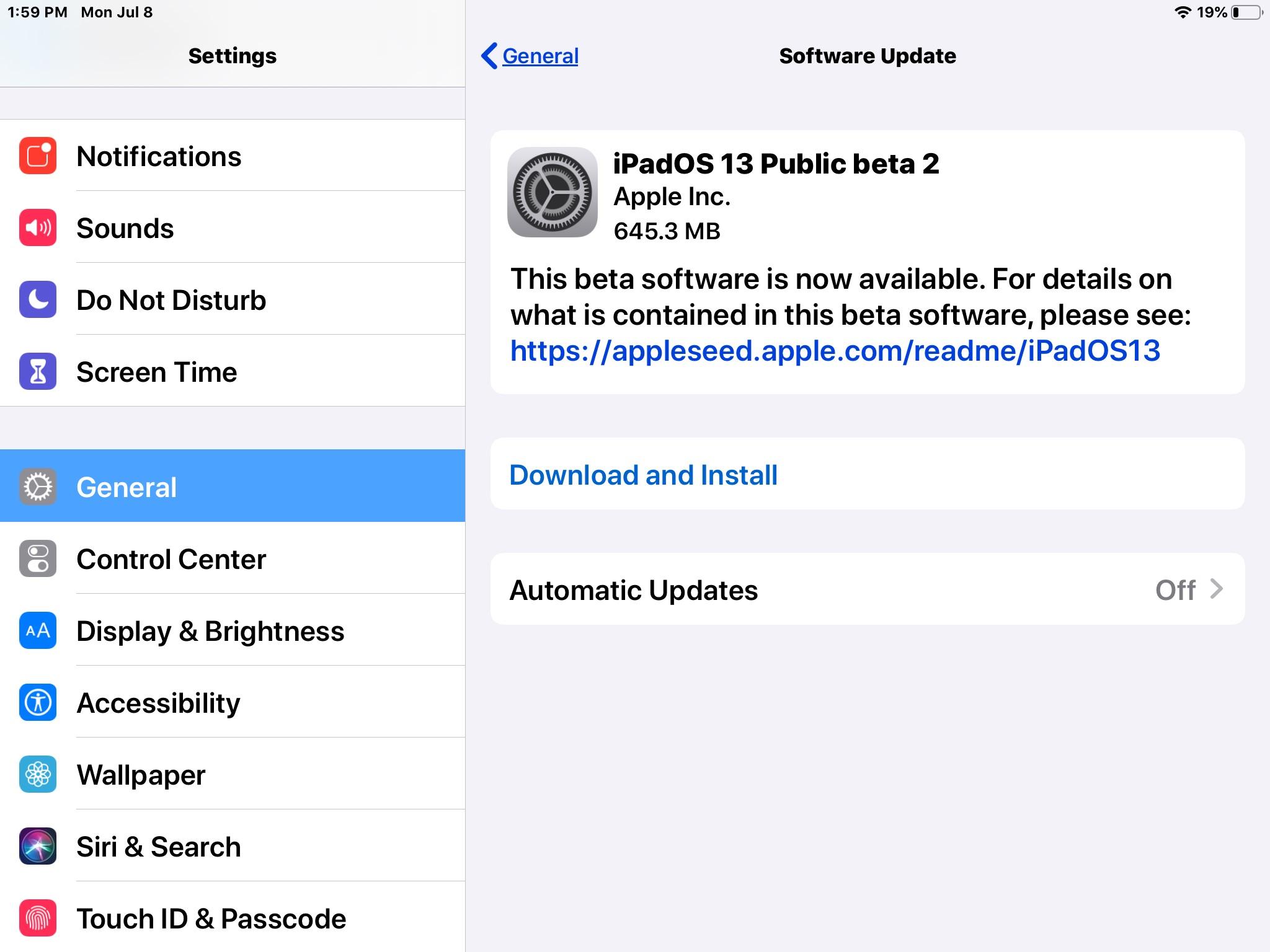 iOS 13 Public Beta 2 y iPadOS Public Beta 2 Descargar Lanzamiento