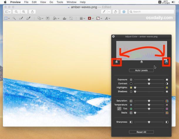 Cómo invertir el color de la imagen en Mac con vista previa invirtiendo puntos blancos y negros
