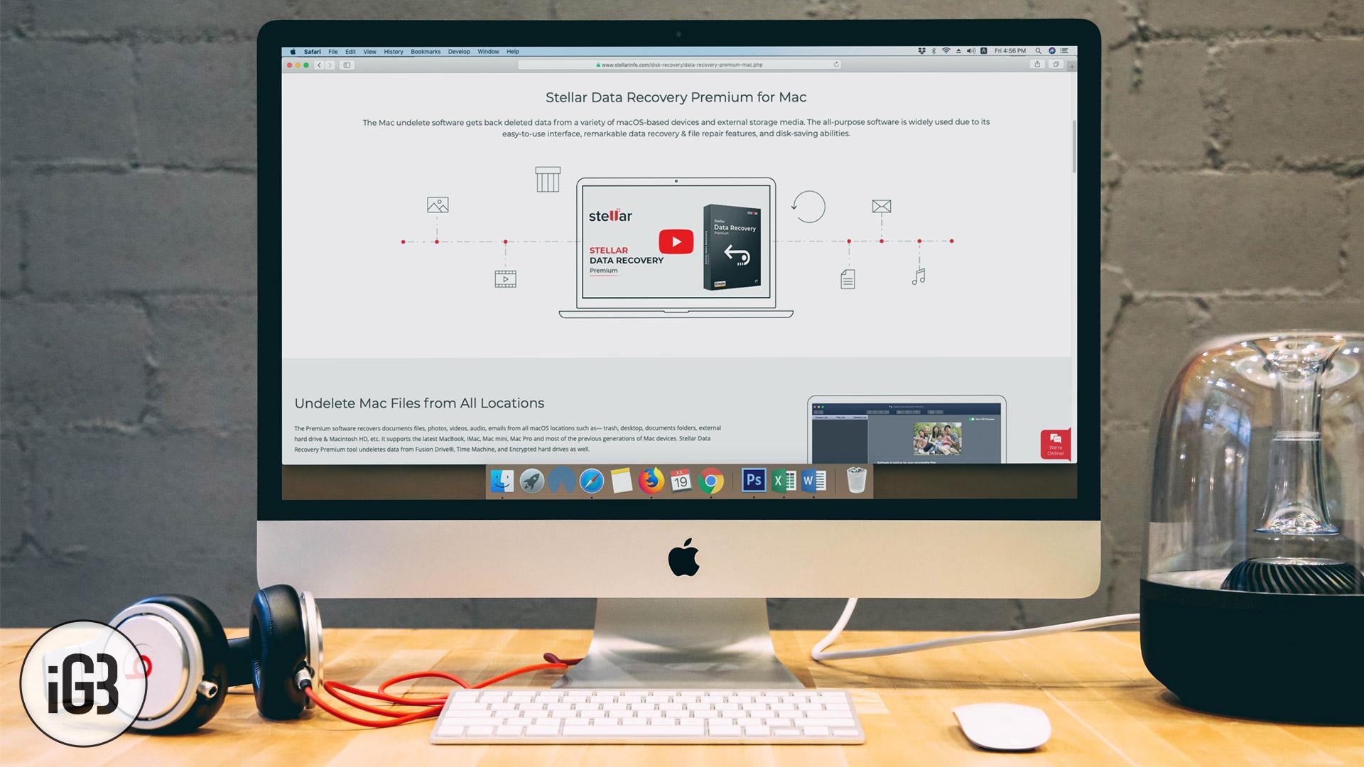 Recupere efectivamente los datos en Mac con Stellar Data Recovery Premium para Mac