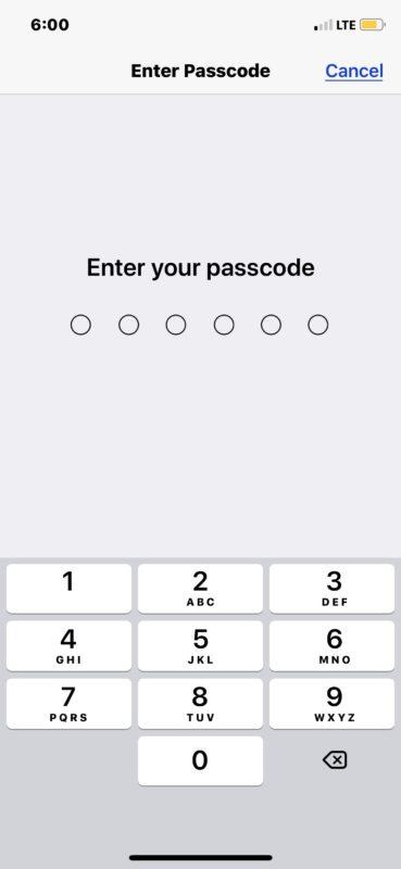 Cómo deshabilitar el código de acceso en iPhone o iPad