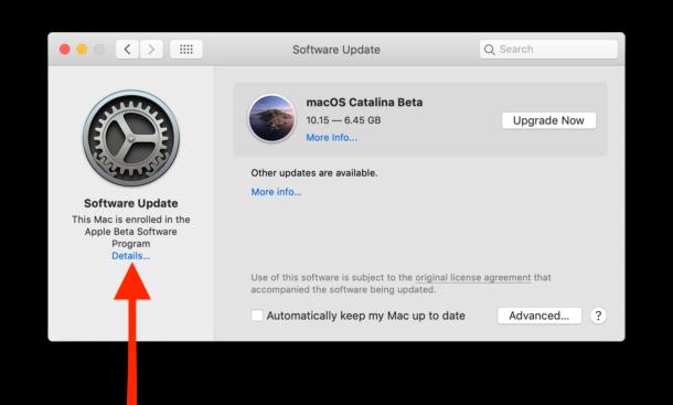 Cómo eliminar el perfil beta de macOS