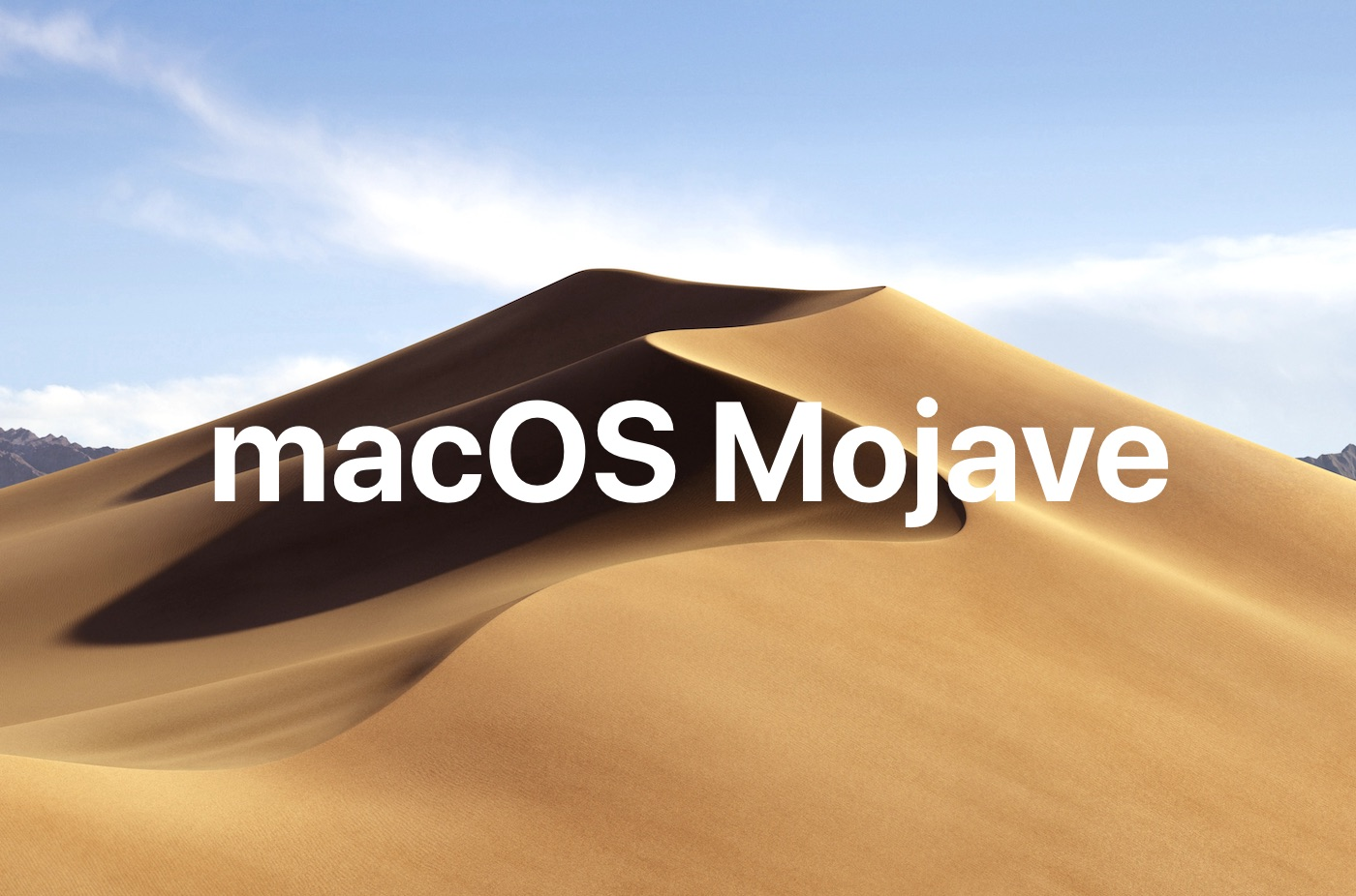 New MacOS Mojave software update