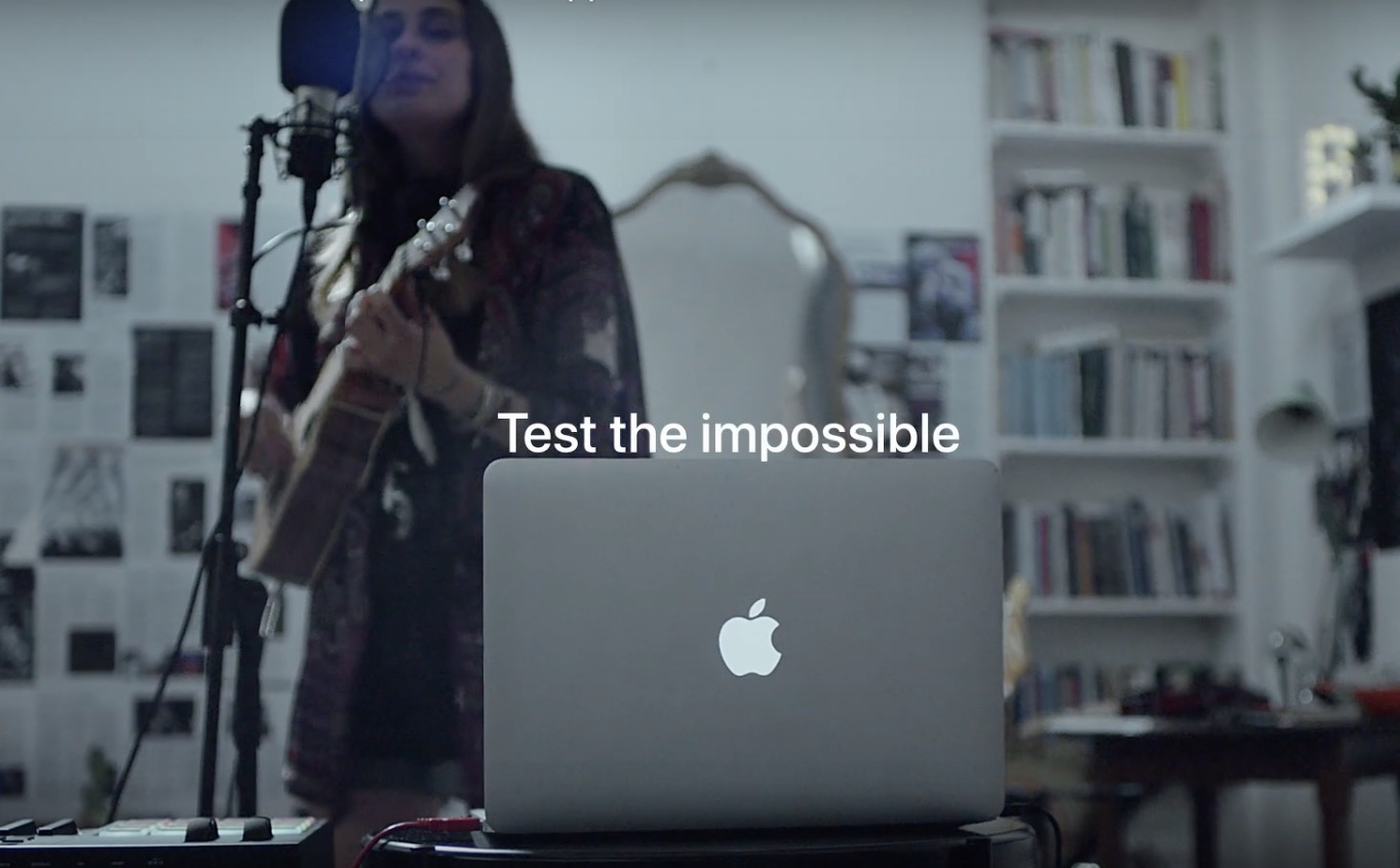 Test the Impossible Mac advertisement for TV