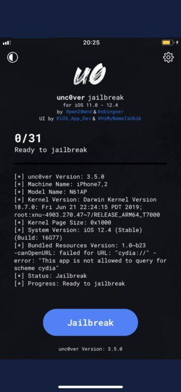 El jailbreak no descubierto para iOS 12.4 se muestra en iPhone
