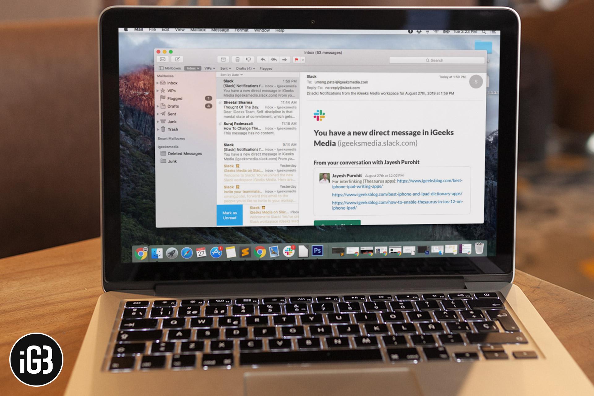 Cómo cambiar la configuración de fuente y color en la aplicación Mac Mail