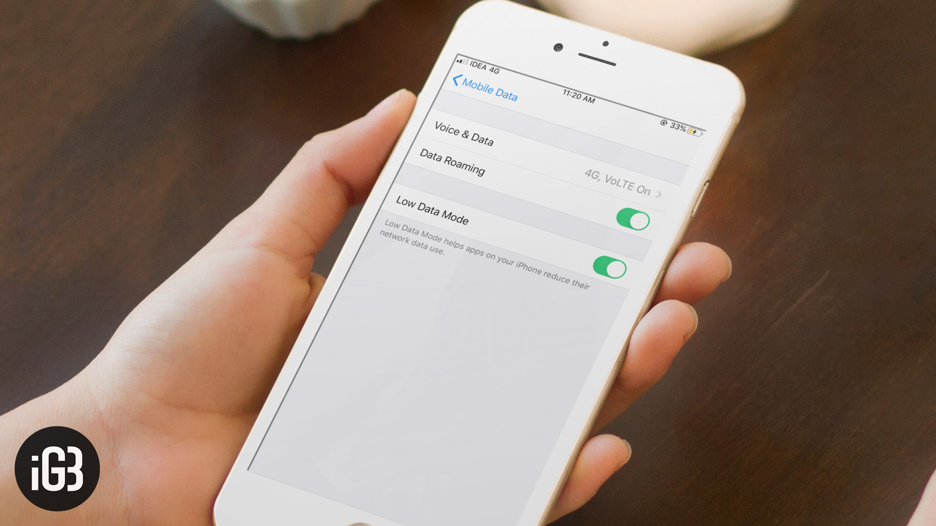 Cómo habilitar el modo de datos bajos en iOS 13 en iPhone y iPad