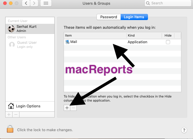 Mac Login Items