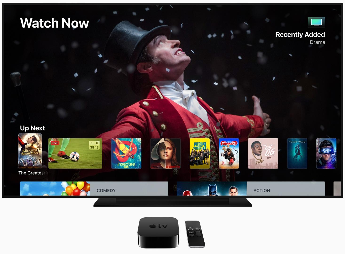 Apple Käynnistää tvOS 13: Usean käyttäjän tuki, Ohjauskeskus ja muut