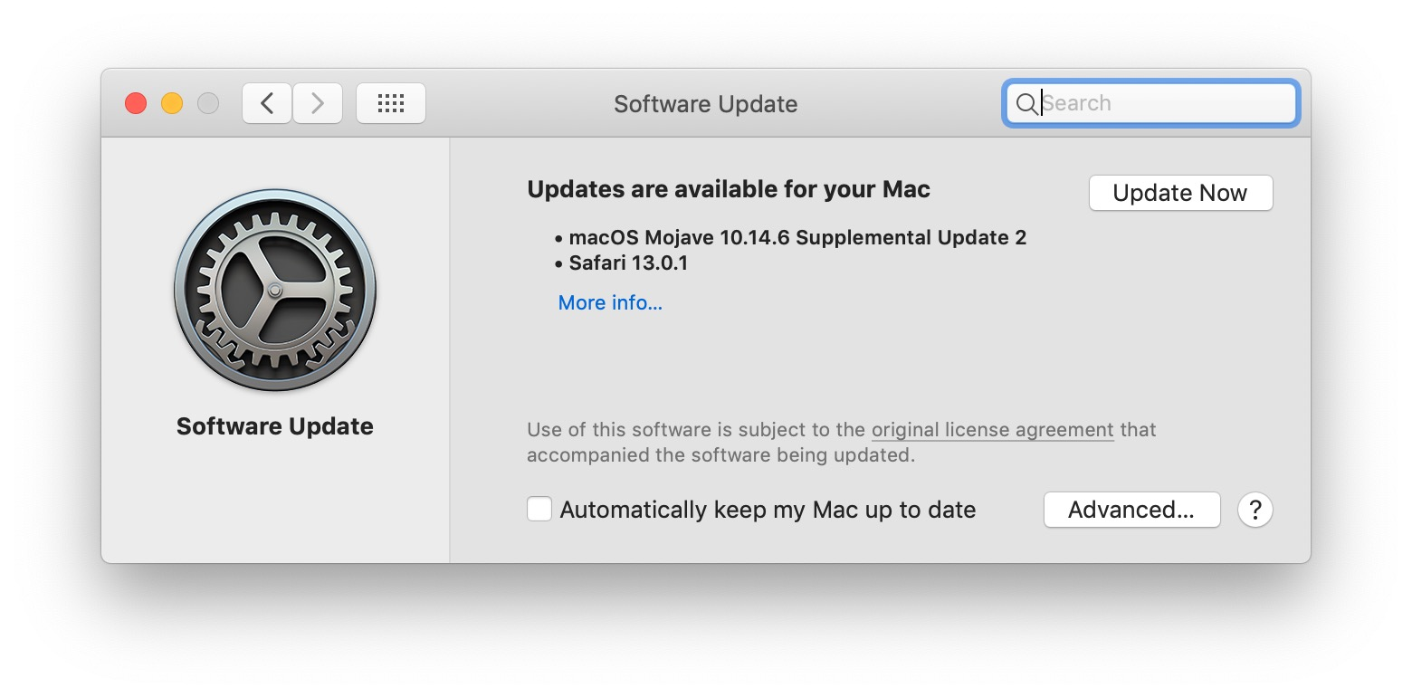 macOS 10.14.6 supplemental update 2