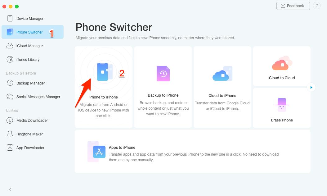 AnyTrans 8 Recensione: il miglior programma per trasferire dati su iPhone 1