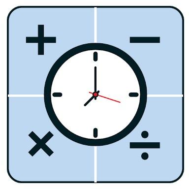 Calculadora de tiempo Horario, horas y minutos entre el logotipo