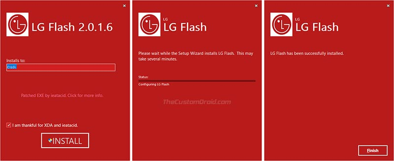 Instale LG Flash Tool en Windows ordenador personal