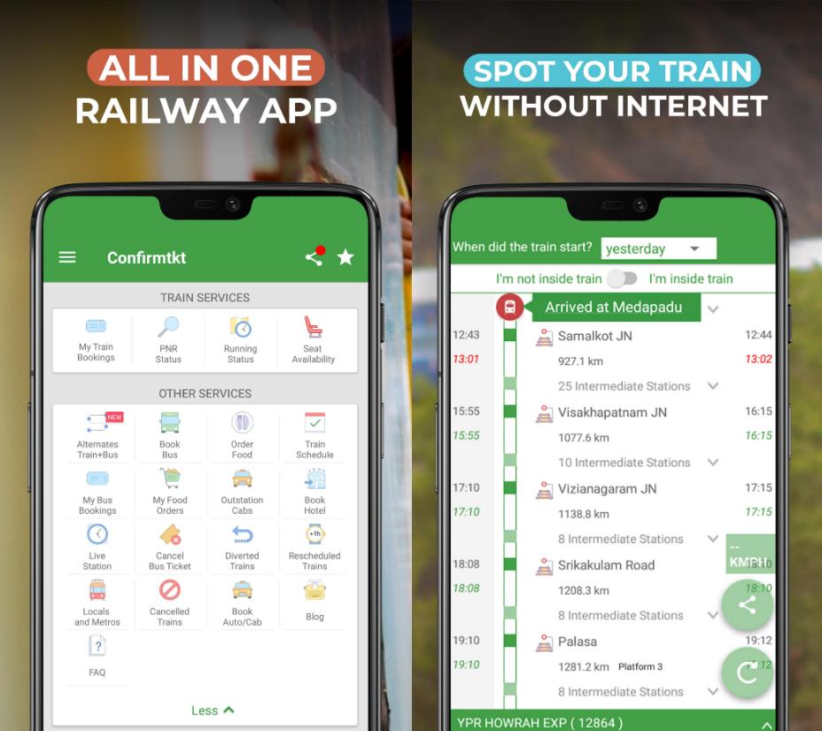 Parhaat junalippujen varaussovellukset Intiassa