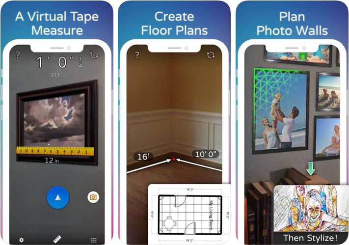 Aplicación de medición de distancia AirMeasure para iPhone y iPad