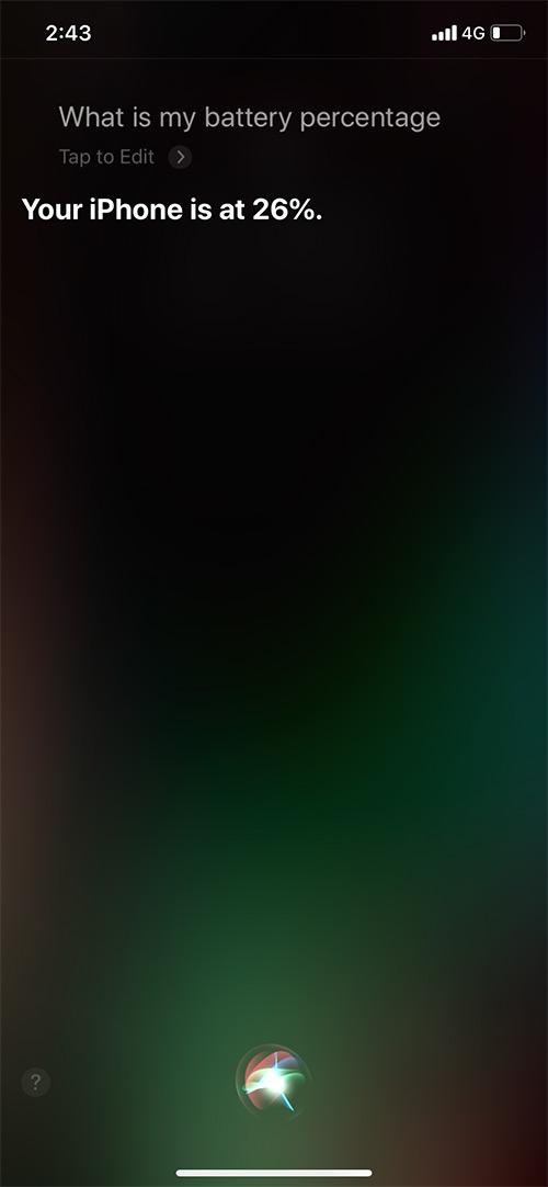 Pídale a Siri que muestre el porcentaje de batería en el iPhone 11 Pro Max