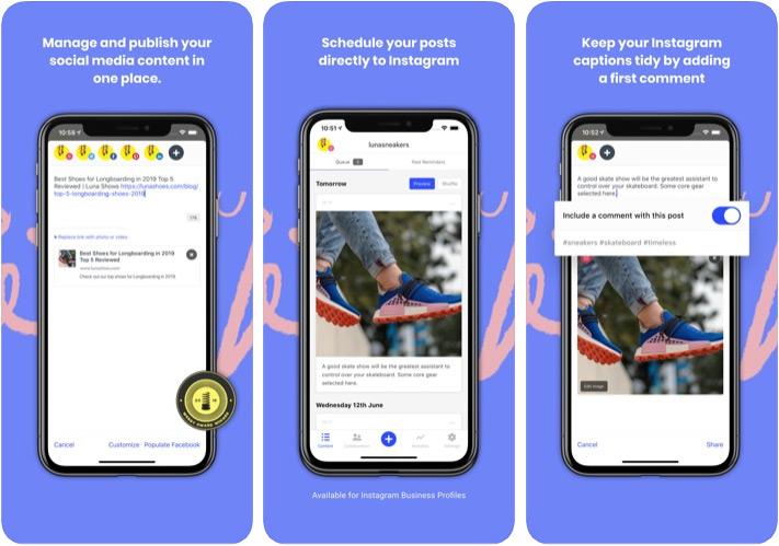 Aplicación Buffer Marketer para iPhone y iPad