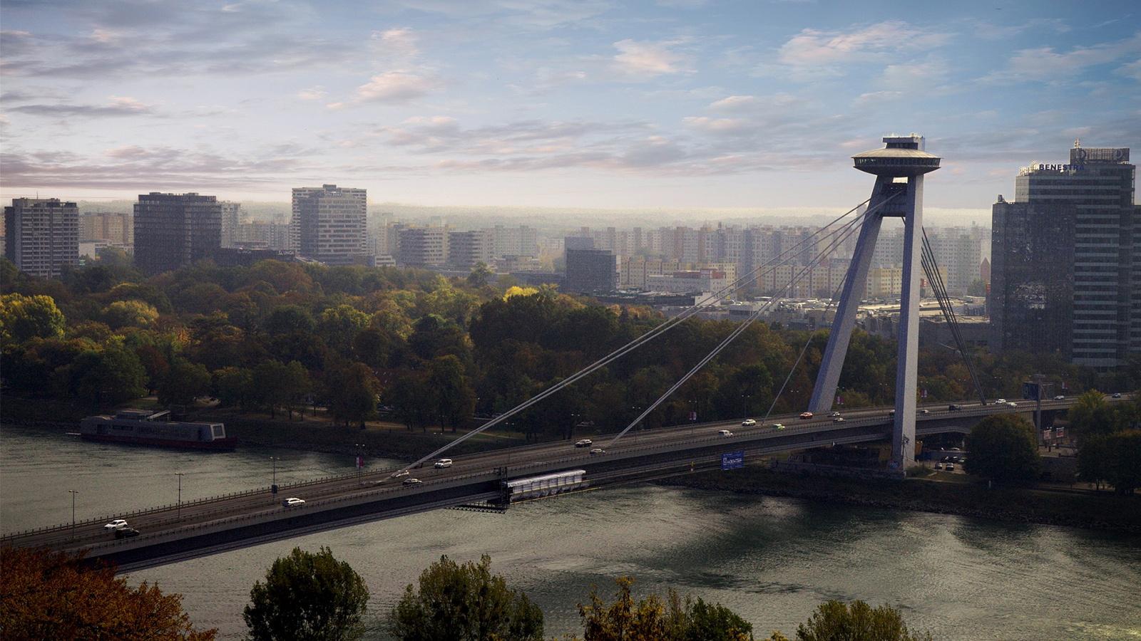 Danube Bridge in Bratislava Slovakia