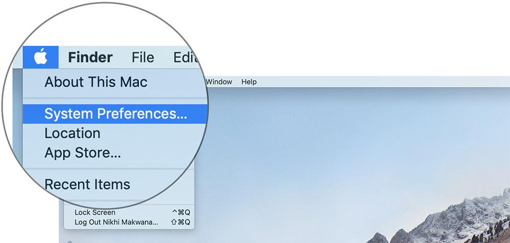 Haga clic en Preferencias del sistema en Mac