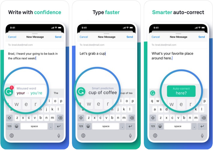 Aplicación Grammarly Marketer para iPhone y iPad