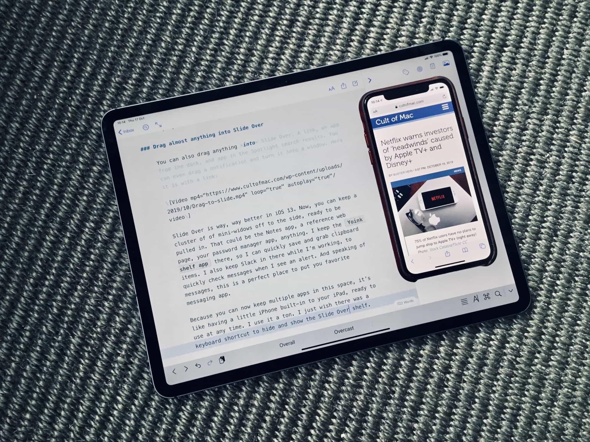 Las nuevas y potentes funciones Slide Over de iOS 13 lo hacen útil al fin