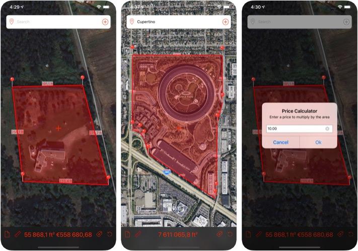 Aplicación de medición de distancia Marea para iPhone y iPad