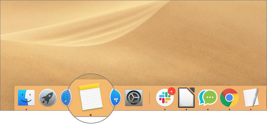 Aplicación Open Notes en Mac