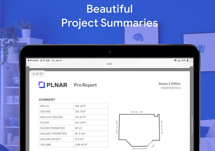 Aplicación de medición de distancia PLNAR para iPhone y iPad