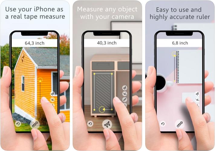 Aplicación Ruler AR Distance Measurement para iPhone y iPad