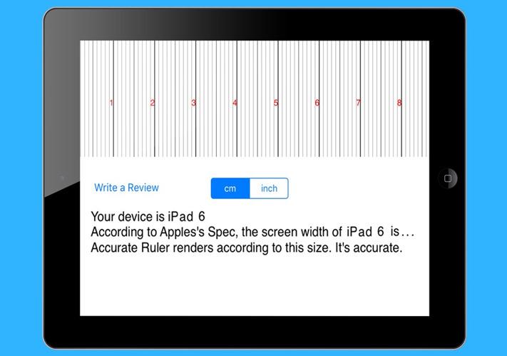 Aplicación de medición de distancia de reglas para iPhone y iPad
