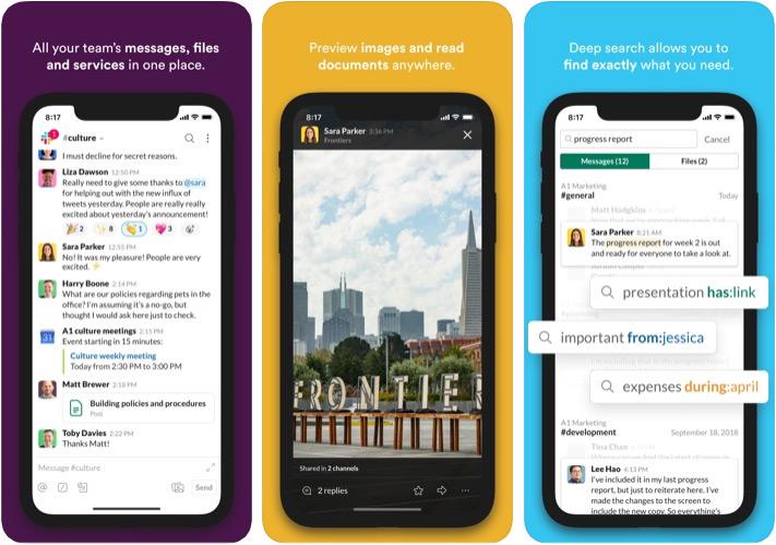 Aplicación Slack Marketer para iPhone y iPad
