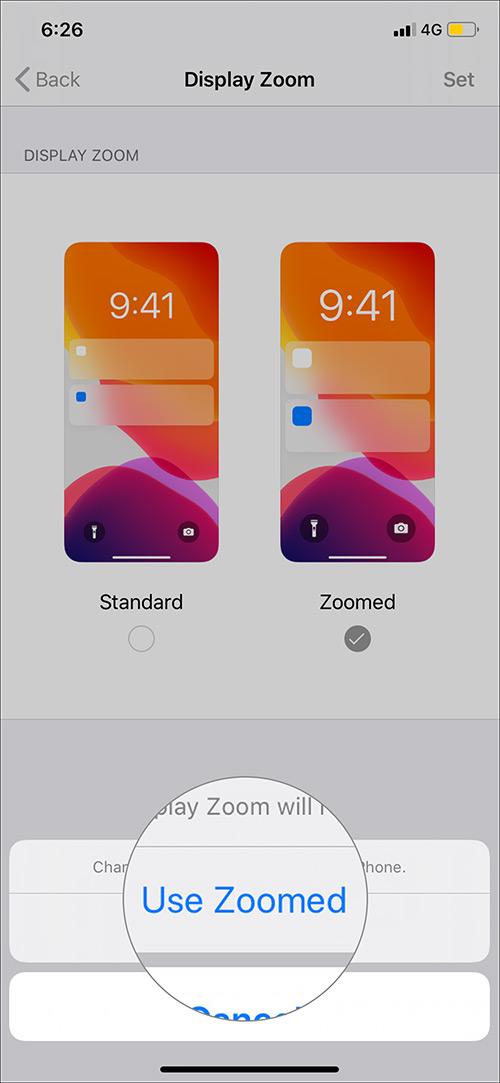 Toca Usar zoom para hacer el texto más grande en iPhone 11 Pro Max