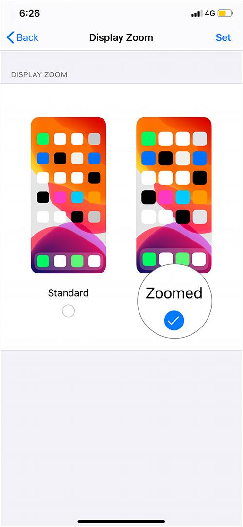 Toque el botón Zoom para cambiar el tamaño de fuente en su iPhone 11