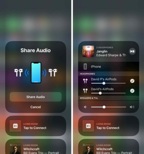 audio compartido en iphone