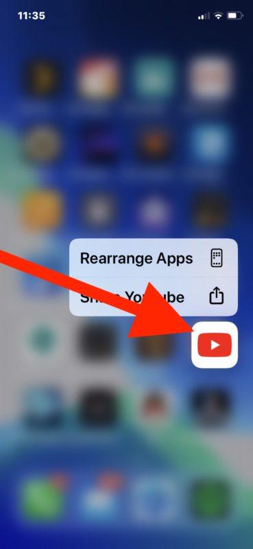 Cómo eliminar aplicaciones en iOS 13 paso 2