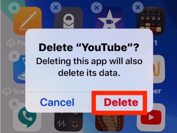 Cómo eliminar aplicaciones en iOS 13 paso 4