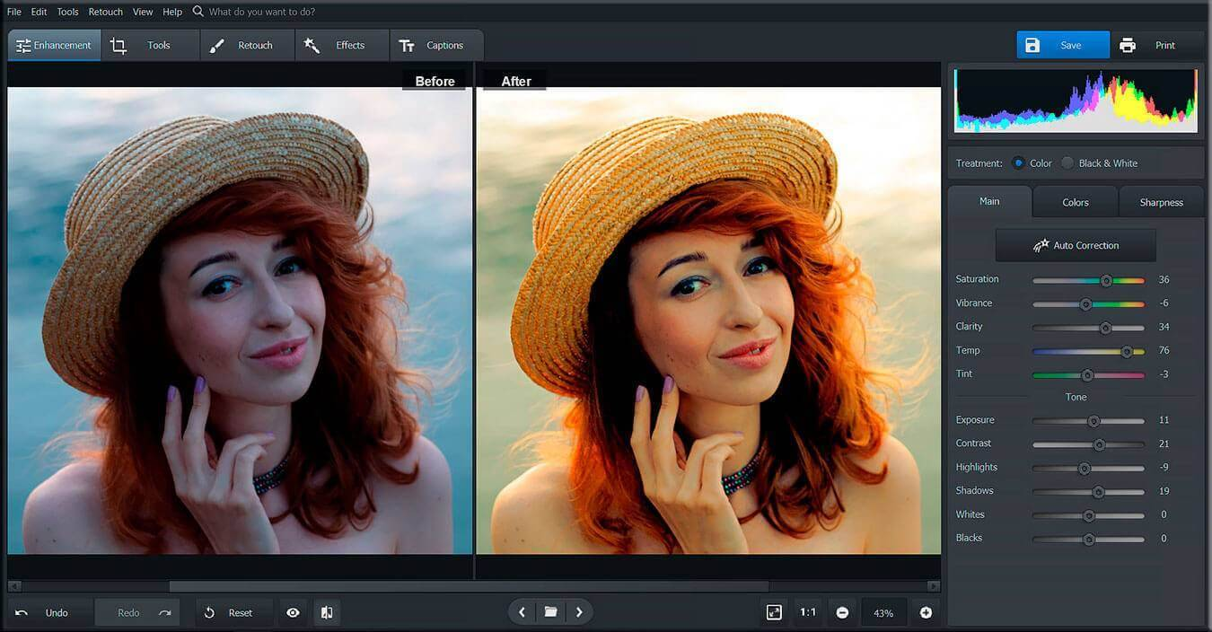 PhotoWorks Revisión: un editor de fotos inteligente para PC 2019