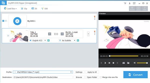 AnyMP4 DVD Ripper: Paras DVD-kopiointiohjelmisto 1