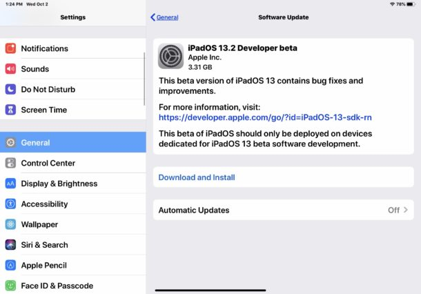 iPadOS 13.2 beta y iOS 13.2 beta