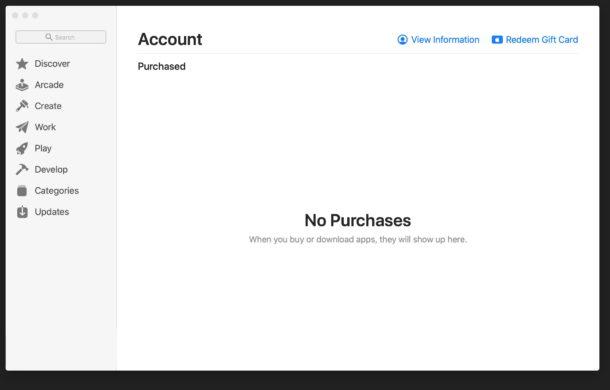 Mac App Store no hay mensaje de error de compras