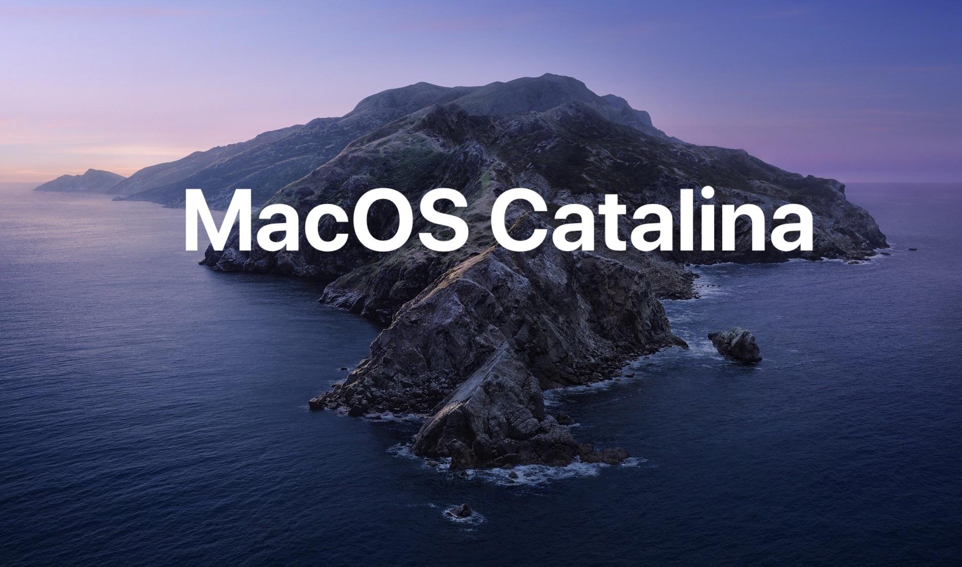 Actualización complementaria de MacOS Catalina 1 Lanzado con correcciones de errores
