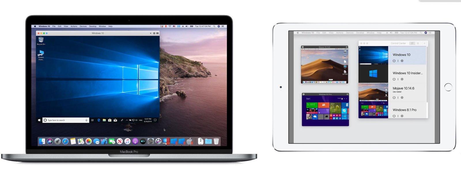 Revisión de Parallels Desktop 15 para Mac: sidecar