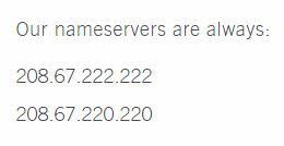Abrir direcciones IP de DNS
