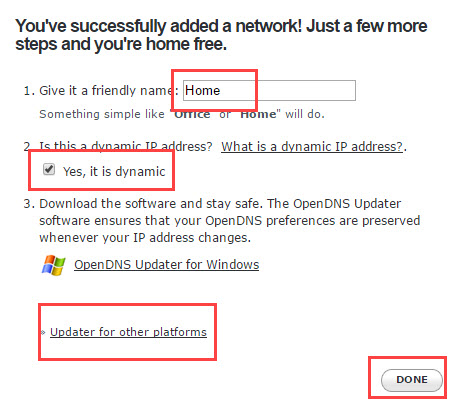 Configurar OpenDNS